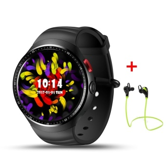 """2017 NEW! LEMFO LES1 Bluetooth Smart Watch MTK6580 1.39"""" OLED Round Support SIM Card For Android IOS Phone (Earphone) - intl - 2"""