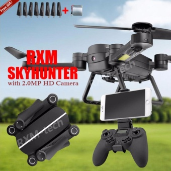 2017 RXMHSF01 Foldable RC Mini Drone Set with Camera HDprofessional 4 Axis Aircraft Helicopter Toy - intl Price Philippines
