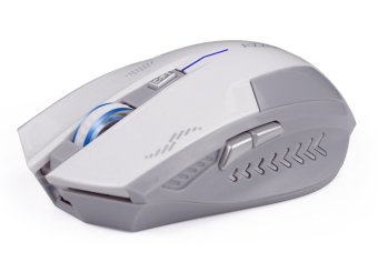 2.4GHz Wireless 6D Rechargeable 2400DPI X3 6 Buttons Optical GamingMouse White - 2