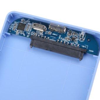 2.5inch USB 3.0 SATA HD Box HDD Hard Drive External Enclosure Case(Blue) - intl - 2