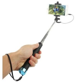 28cm Selfie Stick Integrated Foldable Smart Shooting Aid Monopod(Black/Blue) - 3