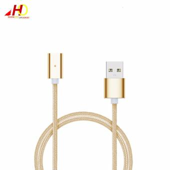2in1 Magnetic Lightning and Micro USB Nylon Cable for iOs & Android (Gold) - 2