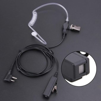 2Pin Covert Acoustic Tube Earpiece Headset Mic for Motorola Two Way Radios - intl - 2