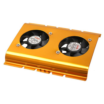 3.5 Inch Dual Cooling Fan Hard Disk Driver HDD Cooler for PC SATA IDE