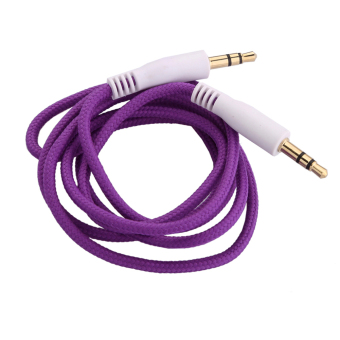 3.5mm Jack AUX Auxiliary Cord Male to Male Stereo Audio Cable Purple