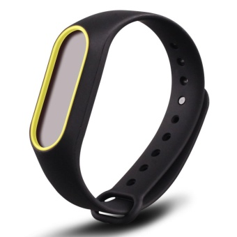3-Black 3PCS Silicone Wrist Strap for Xiao Mi Band 2 Tracker - intl - 3