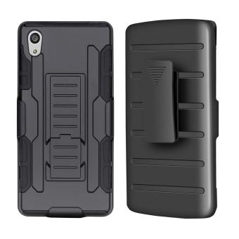 3 in 1 Anti-slip Shockproof Back Case Cover for Sony Xperia Z5(Black