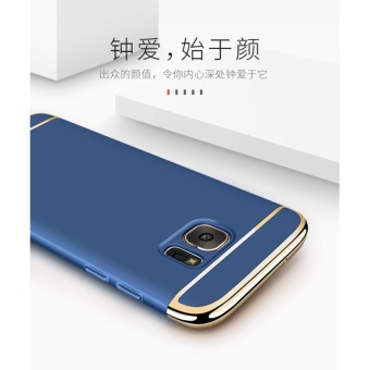 3 In 1 Fashion Ultra Thin Matte Hard Case for For Samsung Galaxy S6 Edge(gold) - intl - 4