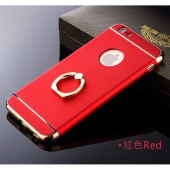 3 in 1 Ultra Slim Metal Hybrid Anti-skidding Hard PC Back Case Cover With Ring Kickstand for Apple iPhone 6S Plus/ 6 Plus(Red) - intl - 4