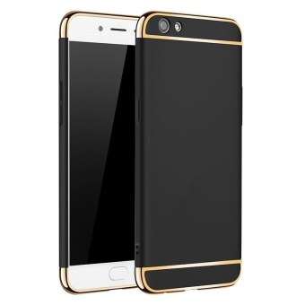 3 In 1 Ultra Thin and Slim Hard Case Coated Non Slip Matte Surface with Electroplate Frame for OPPO A57 / A39 (Black) - intl Price Philippines