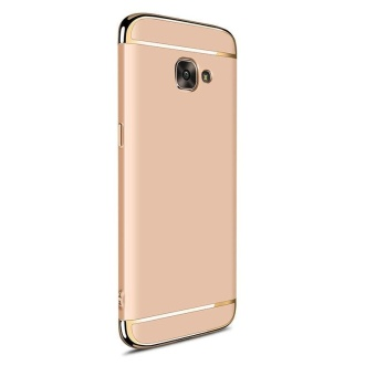 3 In 1 Ultra Thin and Slim Hard Case Coated Non Slip Matte Surface with Electroplate Frame for Samsung Galaxy A7 2017 / A720 (Gold) - intl - 3