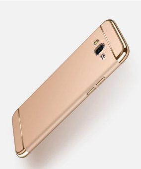 3 In 1 Ultra Thin and Slim Hard Case Coated Non Slip Matte Surface with Electroplate Frame for Samsung Galaxy J7 2015 (Gold) - intl Price Philippines