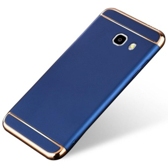 3 In 1 Ultra Thin and Slim Hard Case Coated Non Slip Matte Surface with Electroplate Frame for Samsung Galaxy J7 Prime (Blue) - intl Price Philippines