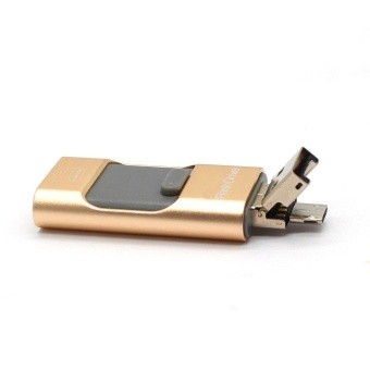 3 in 1 USB Flash Drive 256gb memory Usb Metal Pen Drive For iPhone Apple Android and windows PC Computer - intl - 5