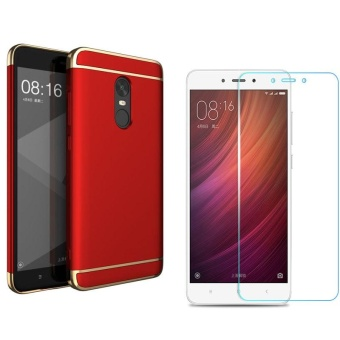 3 in1 Shockproof Phone Case With HD Anti Blue-Ray Tempered Glass for Xiao mi Red mi Note4X/Note4 Snapdragon Version - intl