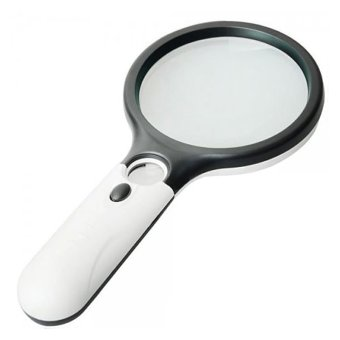 3 LED Lights 45X Handheld Magnifier Reading Magnifying Glass Lens Jewelry Loupe - 2