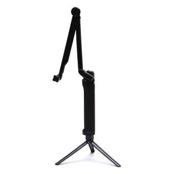 3-Way Mini Tripod/Monopod 50.8 cm for Go Pro, SJcam and Xiao Mi Sports Action Camera (Black) - picture 2