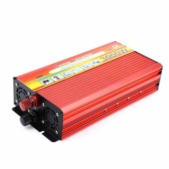 3000W Solar Car Power Inverter DC 12V to AC 220V Modified Sine WaveCharger - intl - 3