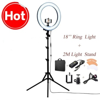 3018?240pcs LED 5500K Dimmable Photography Photo/Studio/Phone/VideoLED Ring Light Lamp With Tripod Stand For Camera - intl