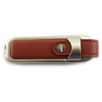 32GB Leather USB2.0 Flash Pen Drive Memory Stick UDisk Thumb Storage Gift brown