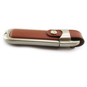 32GB Leather USB2.0 Flash Pen Drive Memory Stick UDisk Thumb Storage Gift brown - picture 2