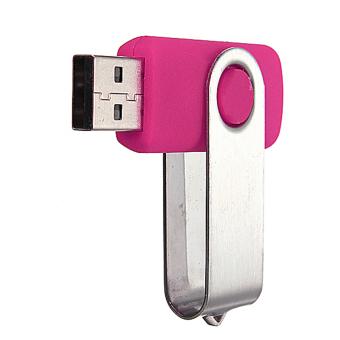 32GB Swivel USB 2.0 Flash Memory Stick Pen Drive Storage Thumb U Disk Pink Audew - 2