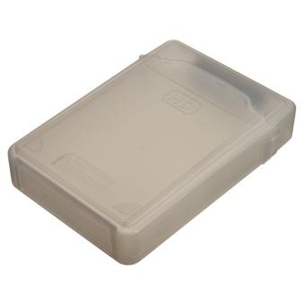 3.5'' inch IDE SATA HDD Hard Drive Disk Plastic Storage Box Case Enclosure Cover Gray - intl - 4