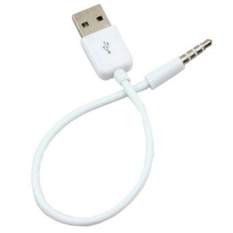 3.5mm AUX Audio Plug Jack to USB 2.0 Male Charge Cable Adapter ForiPod/Car MP3