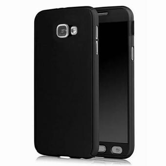 360 Degree Full Body Armor Case for Samsung Galaxy J5 Prime (Black) with Free Tempered Glass