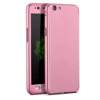 360 Degree Full Body Defender Case for Oppo F3 Plus with FreeTempered Glass (Rose Gold) - 3