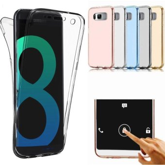 360 Degree Full Body Front and Back Cover Non-slip Shock-AbsorptionProtective Skin Shell Transparent Soft TPU Case for Samsung GalaxyS8 Plus - intl