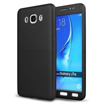 360 Degree Full Body Hard PC Protective Back Case With Tempered Glass For Samsung Galaxy J5 2015 (Black) - intl Price Philippines