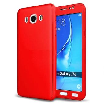 360 Degree Full Body Hard PC Protective Back Case With TemperedGlass For Samsung Galaxy J5 2015 (Red) - intl Price Philippines