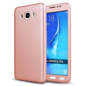 360 Degree Full Body Hard PC Protective Back Case With TemperedGlass For Samsung Galaxy J7 2015 (Rose Gold) - intl Price Philippines