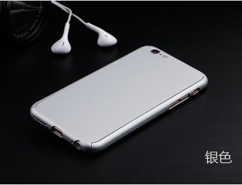 360 Degree Full Body Protect Hard Slim Case Cover with TemperedGlass for iPhone 5/5S/5C/SE Silver - intl - 4