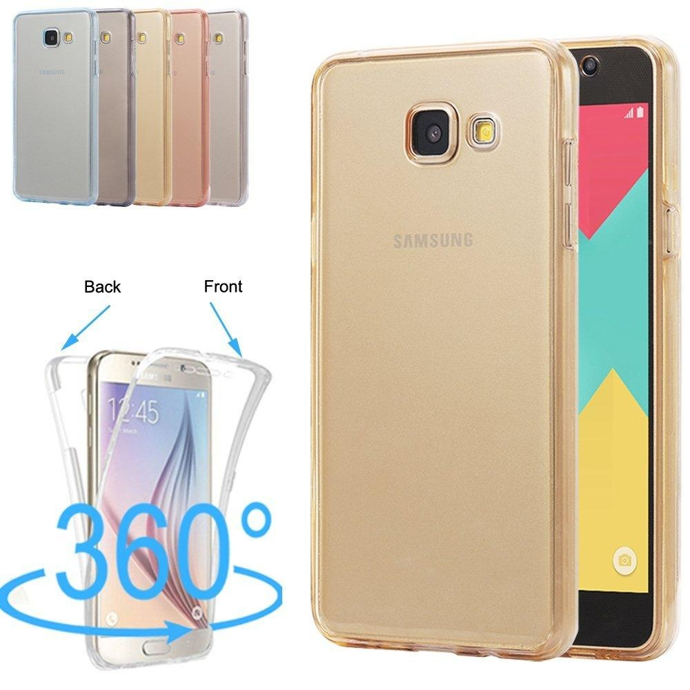 ... 360 Degree Full Protective Soft Clear Crystal Gel TPU Case Front +Back Cover for Samsung ...