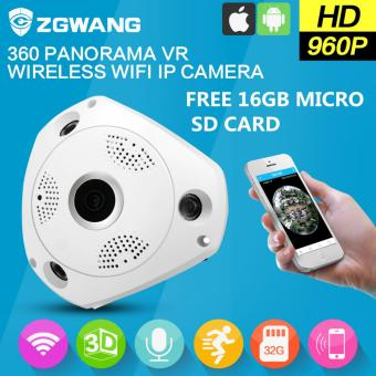 360 Degree Panorama CCTV Camera Wifi 960p HD Wireless VR IP CameraRemote Control Surveillance Camera P2P Indoor Cam With Free 16gbMicroSD Memory Card