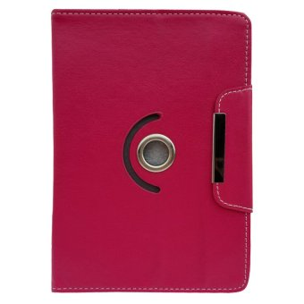 360 degree Rotate Cover Case for Huawei MediaPad M2 8.0 (Rose Red) .