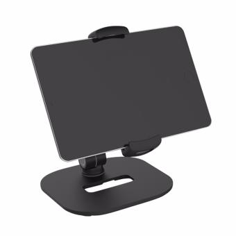 360 Degrees Rotation and Adjustable Height Cell Phone and Tablet Stand (Black) - 2