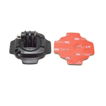 360 Degrees Rotation Helmet Mount with Sticker for Gopro Hero 3+ /3 / 2 / 1 - intl