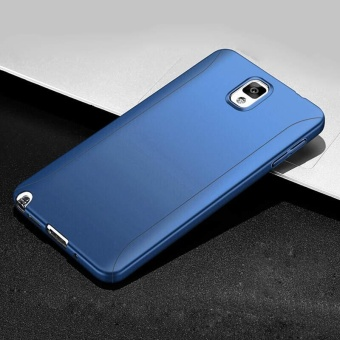 360 Full Body Coverage Protection Hard Slim Ultra-thin Hybrid Case Cover & Skin with Tempered Glass Screen Protector for Samsung Galaxy Note 3 (Blue) - intl - 2
