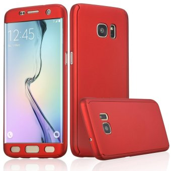 360 Full Body Coverage Protection Hard Slim Ultra-thin Hybrid Case Cover for Samsung Galaxy S6 Edge (Red) - intl Price Philippines