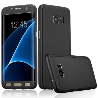 360 Full Body Coverage Protection Hard Slim Ultra-thin Hybrid Case Cover for Samsung Galaxy S7 Edge (Black) - intl Price Philippines