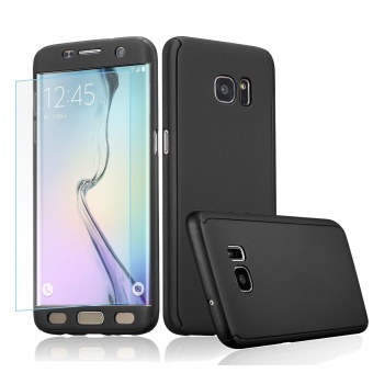 360 Full Body Coverage Protection Hard Slim Ultra-thin Hybrid Case Cover with Tempered Glass Screen Protector for Samsung Galaxy S5 (Black) - intl Price Philippines