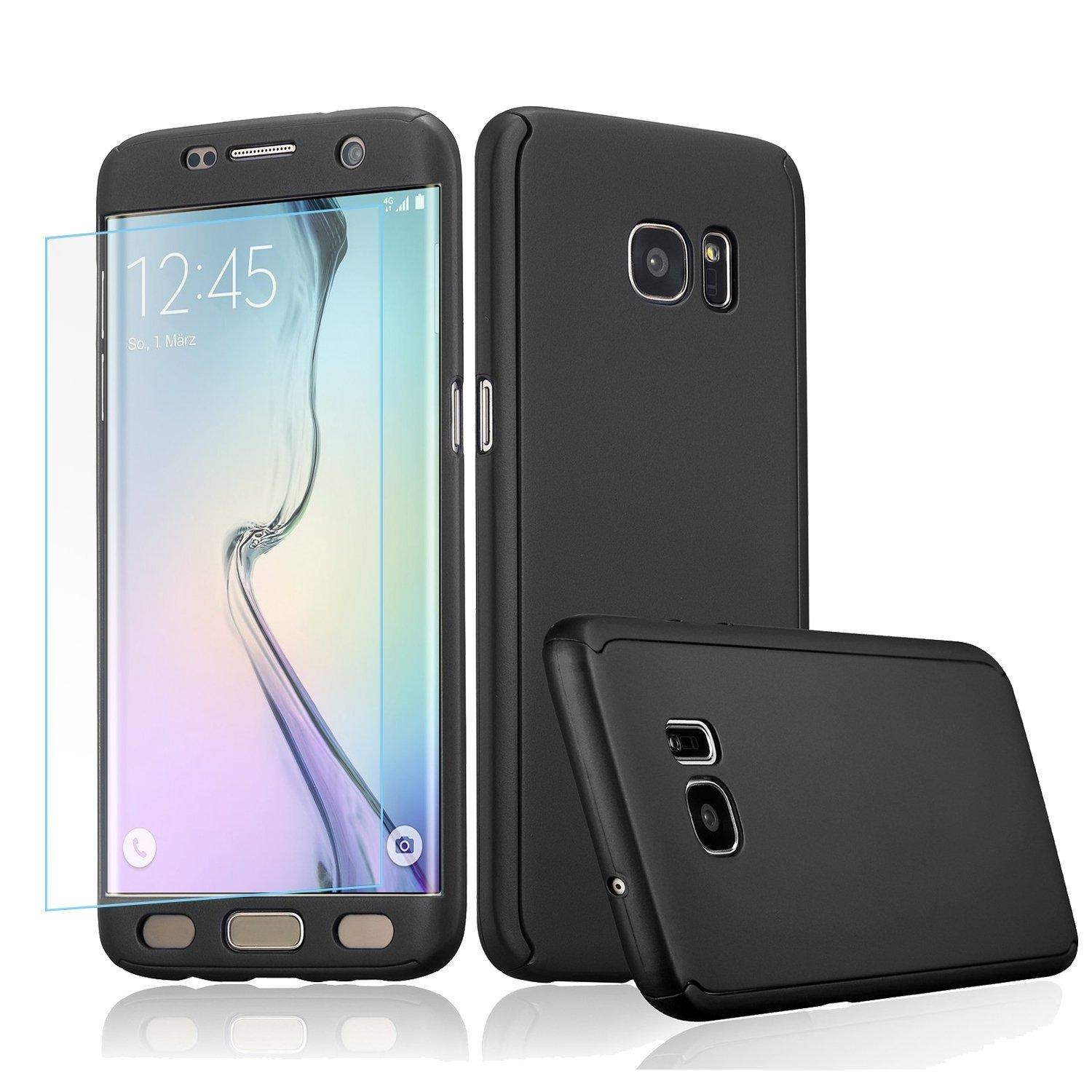... 360 Full Body Coverage Protection Hard Slim Ultra-thin Hybrid Case Cover with Tempered Glass ...