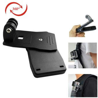 360' Rotary Backpack Hat Clip Mount for SJ4000, SJ5000, GoPro,Xiaoyi - intl
