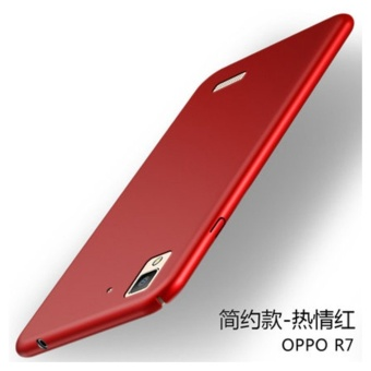 360 ultra-thin matte PC hard Cover Case For OPPO R7(Red) - intl