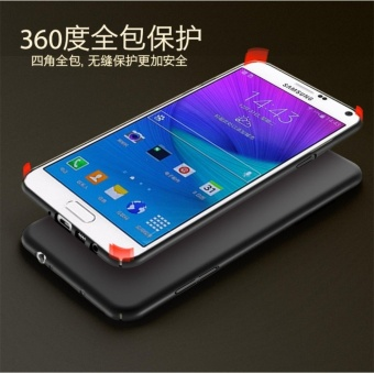 360 ultra-thin matte PC hard Cover Case For S amsung Galaxy Note 4(Black) - intl - 2