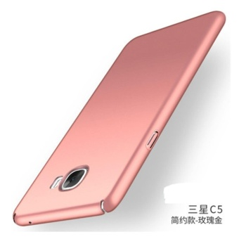 360 ultra-thin matte PC hard Cover Case For S amsung galaxyC5(C5000(Rose gold) - intl