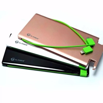 3G 12000mAh Power Ultra Slim Power Bank with Built-in Cable forSmartphones and Tablets - 2